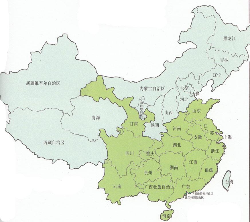 Чайная карта Китая